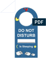 Do Not Disturb the Baby Door Sign