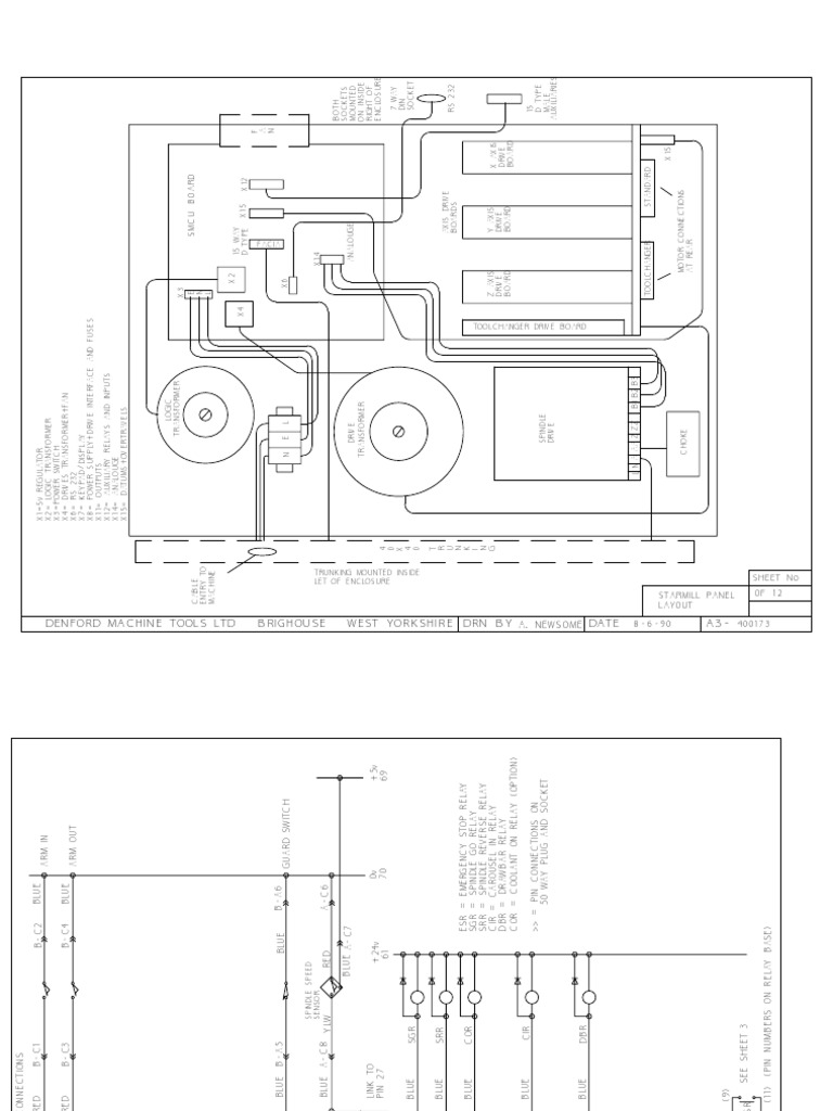 Denford Starmill Pc Electrical Diagrams