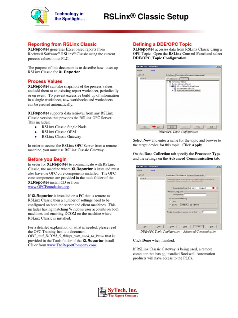 Tech RSLinxClassic | Server (Computing) | System Software