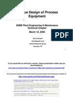 Fatigue Design of Process Equipment
