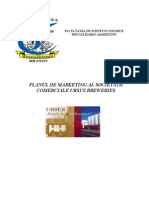 Planul de Marketing Al Societatii Comerciale Ursus Breweries