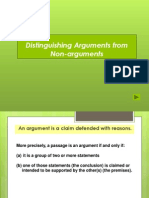 Arguments vs Non Arguments