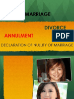 Marriage and Annulment