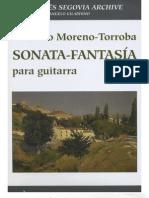 TORROBA Federico Moreno - Sonata-Fantasia & Manuscript (Rev Gilardino) (Guitar - Chitarra)