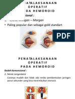 penatalaksanaan operatif hemoroid