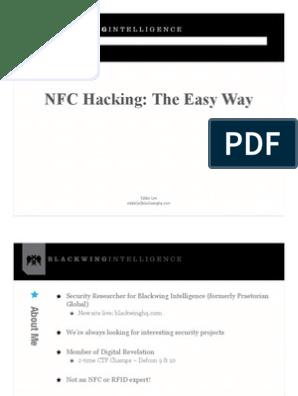 NFC Hacking made Easy - Eddie Lee: Blackwing Intelligence