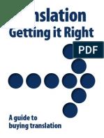 Translation, Getting It Right (Handbook)