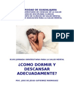 Manual Cómo dormir y descansar