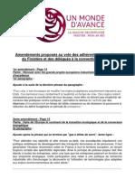 Conv° Europe Amendements locaux UMA (avec explication de vote)