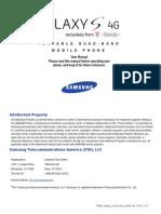 T-Mobile T959V Galaxy S 4G English User Manual