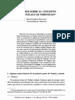 Jiménez Redondo Manuel, Gadamer sobre el concepto aristotélico de Phrónesis