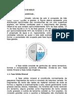 Exercício de Constituintes do Solo e Triângulo textural.