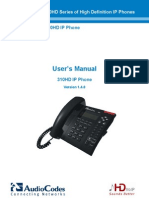 Audiocodes 310hd User Guide