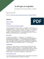 La gestión del agua en Argentina