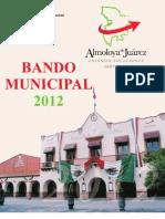 Bando Municipal Almoloya de Juarez 2012a