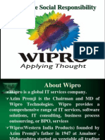 Csr of Wipro
