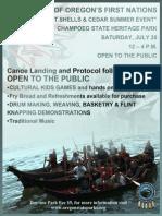 Canoe Journey - 1st Nations at Champoeg on Sat 07.20.2013