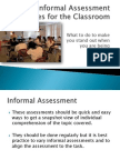 informal assessment strategies for the classroom 3