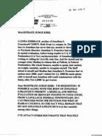 Letter from Linda Embrack to Judge James Kirk, April 28, 2010