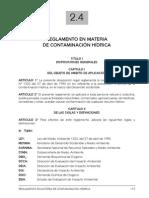 Reglamento en Materia de Contaminacion Hidrica