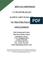 Kurdish Women Charter in Turkish