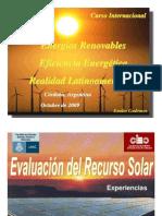 Evaluacion Del Recurso Solar