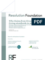 Who Gains From Growth - Living Standards in 2020 [Resolution Foundation]