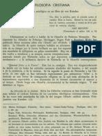 Bibliografia LA FILOSOFIA CRISTIANA Revista de Filosofia UCR Vol.3 No.11
