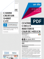 Programa del congreso sobre smart cities en CentroCentro (Madrid)