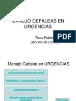 Manejo Cefaleas en Urgencias