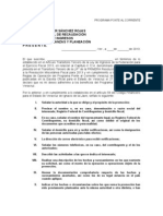 Escrito Libre Para Ponte Al Corriente RECAUDACION
