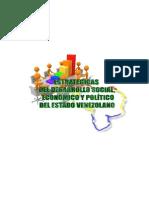 TRABAJO LINEAS ESTRATEGICAS DEL DESARROLLO SOCIAL, ECONOMICO Y POLÍTICO, CON LA VISIÓN DE ESTADO