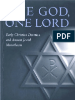 Larry W. Hurtado - One God One Lord, Early Christian Devotion Ancient Jewish Monotheism