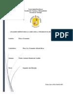 ANALISIS CRÍTICO DE LA CARTA DE LA TOLERANCIA DE JOHN LOCKE