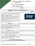 PAUTA DE EVALUACIÓN A LA COBERTURA  CURRICULAR-MATEMATICA-1º A 8º- PRIMER SEMESTRE