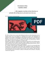 Sem 3 Privatization in China. Capitalism Confined
