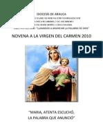 Novena de La Virgen Del Carmen 2010.