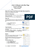 Margins and Page Layout 2010