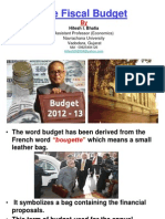 The Fiscal Budget 2012-13