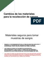CAMBIOS EN MATERIALES PARA RECOLECCION DE MUESTRAS 2011.ppt