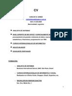 Cv - Analist Sist Excel