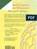 Analytical Geometry of Three Dimensi