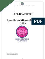 Apostila Word 2003 aplicativos informática