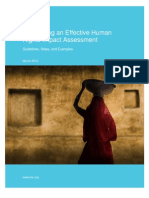 Conducting an Effective Human Rights Impact Assessment