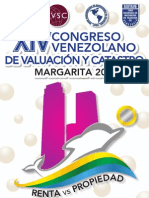 Información y Planillas de Inscripción Congreso de Tasadores Isla de Margarita Octubre 2013