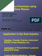 Adhesion Promotion Using Flame Plasma
