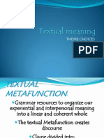 Textual Metafunction