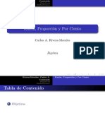 Algebra Razon Proporcion Porciento