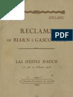 Reclams de Biarn e Gascounhe. - Octoubre-nobembre 1923 - N°1 (28e Anade)