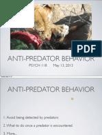 Lecture 12 - Antipredator Behavior